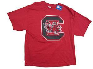 SOUTH CAROLINA GAMECOCKS ADULT RED BIG LOGO T SHIRT NEW
