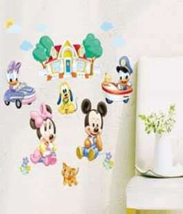 Cute New Disney Mickey Minnie Baby Home Wall Art Decor Stickers Cool