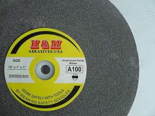Aluminum Oxide BENCH GRINDING WHEEL 10x1x1 A100