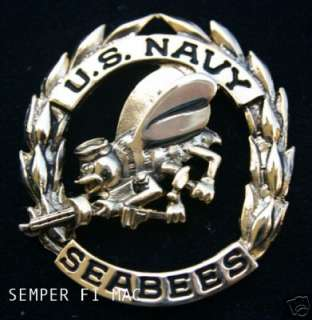 SEABEE HAT PIN US NAVY USN SEABEES PIN BADGE SEA BEE