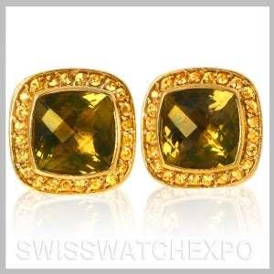 Yurman Estate 18K Yellow Gold Peridot Yellow Sapphire Earrings
