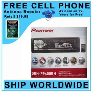 PIONEER DEH P9400BH Single DIN CD PLAYER Built In Bluetooth HD Radio