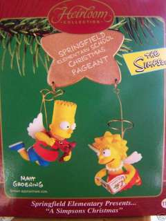 Simpsons Christmas Ornament Bart Lisa Carlton Cards
