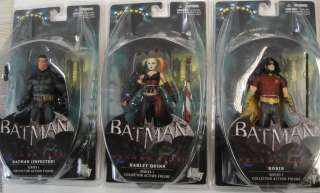 IN STOCK ARKHAM CITY FIGURE SET DC DIRECT SERIES 1 BATMAN ROBIN HARLEY