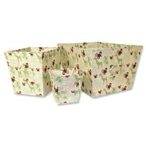 Jungle Jam Nursery Baby Bedding Storage Bin Set