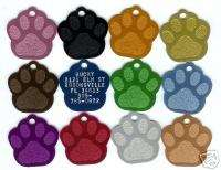 Akita Dog Paw Print Pet ID Name Tag