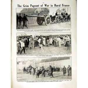 1915 WORLD WAR BRITISH SOLDIERS GUN FRANCE AEROPLANE