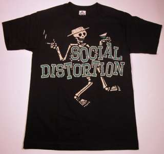 SOCIAL DISTORTION Mens Skelly T shirt Punk Rock New XL