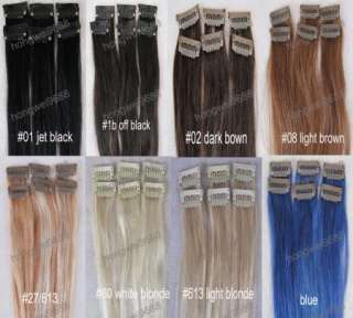 pcs 1.5 width real human hair clips in on extensions colors