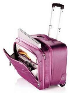 New Samsonite Pink Wheeled Laptop Case Rolling Luggage Bag in line