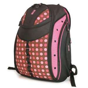 Womens Pink Polka Dot Express Laptop Backpack Office Products