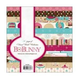 Bo Bunny Sweet Tooth Paper Pad 6X6 36 Sheets;3 Items
