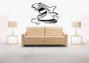 Big shark removable vinyl art wall decals murals home