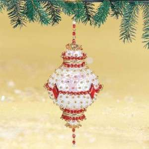 Ruby Sequin Beaded Christmas Ornament Kit Makes 4