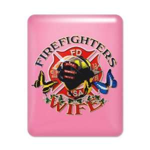 iPad Case Hot Pink Firefighters Fire Fighters Wife with