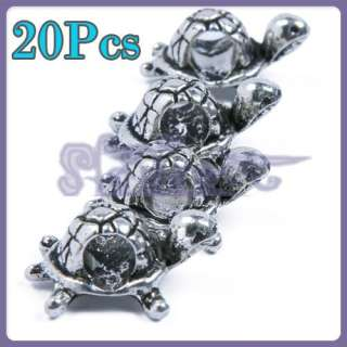 Free Ship 20 Tibetan Silver 3D Turtle Spacer Bead Charm