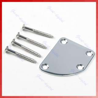 Deluxe Style Rounded Neck Plate With Screws For Fender Gibson
