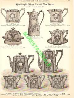 1910 Antique Silver Plate Tea Coffee Service Catalog Ad