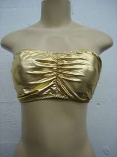 BABY PHAT TUBE TOP SILVER GOLD SIZE M L XL
