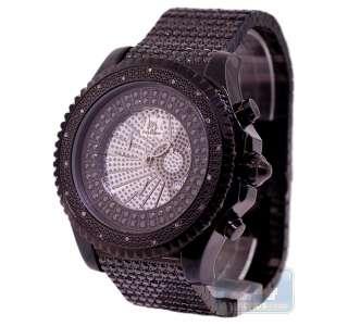 Black PVD Diamond Mens Black Iced Out Bracelet Large Watch