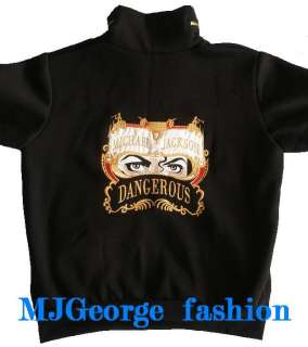 black michael jackson dangerous zipped top jacket unique can t be