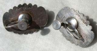 Vintage DRAGONS BREATH Jelly Opal STERLING Silver Earrings