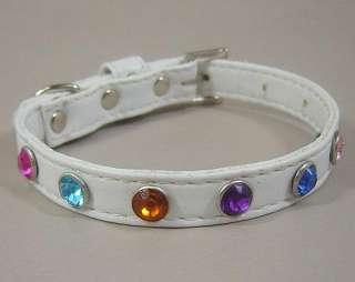Pvc leather small dog collars Rhinestones Pet Collar wholesale price 8