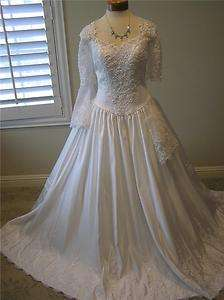 NWOT Marys 4968 wedding dress bridal Ball gown Quinceanera Bell short