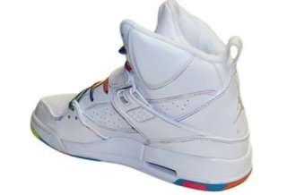NIKE Air Jordan Flight 45 High Top White Pink Flash Sole Shoes Girls