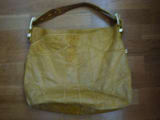 steven by steve madden yellow leather handbag   gently used