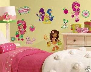 39 STRAWBERRY SHORTCAKE Girls Wall Decals Kids Stickers 034878159942