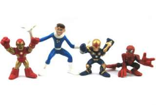 Lot 12 X Marvel Super Hero Squad X Men Spider Man Iron Man Figure D88