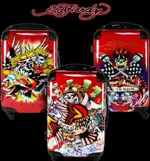Ed Hardy Luggage Hard case carry on TRAVEL RED Choose 1