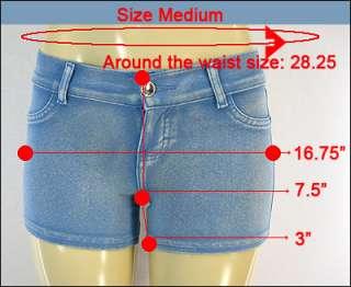 Sexy short pants moleton jeans low rise stretch khaki