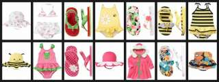 Gymboree Baby Toddler Girl SWIMWEAR CHOICES Swimsuits Hats Flip Flops