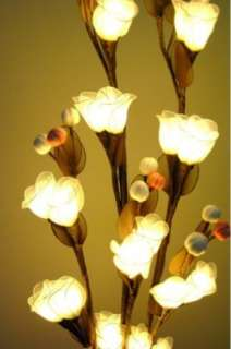 Physia   Floor Flower Lamp with Branch Tree lights