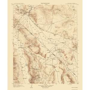 USGS TOPO MAP FURNACE CREEK QUAD CALIFORNIA (CA/NV) 1908