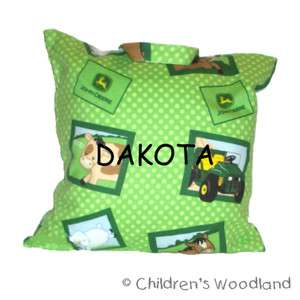 JOHN DEERE TRAVEL PILLOW! PERSONALIZED! KIDS! TRACTOR!