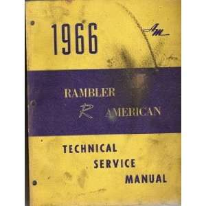 1966 Rambler American Technical Service Manual Books