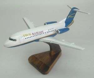 28 Fokker 28 IRS Airlines Airplane Wood Model Big