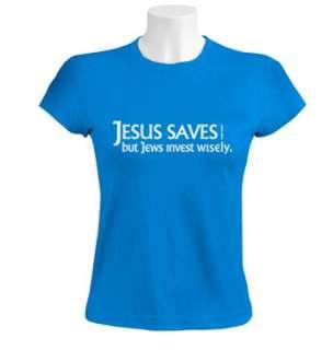 Jesus Saves Women T Shirt funny jewish israel jew humor