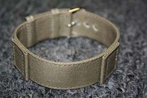 885998d9009 16mm Vintage Military Khaki Canvas One Piece Watch Band on PopScreen
