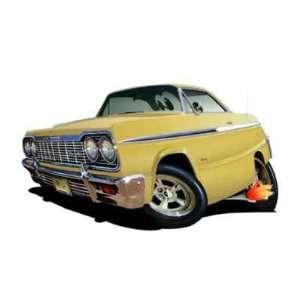 24 DB 1964 Chevy Impala SS 327 4 Speed Cartoon Car Wall
