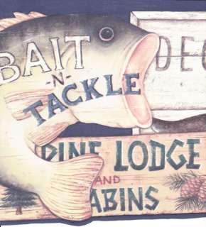 SIGNS HUNTING FISHING BEAR, MOOSE COUNTRY Wallpaper Wall bordeR |