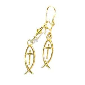 14 K solid Gold Messianic Earrings   (1.6 cm or 0.6 inches