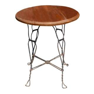 Industrial Reclaimed Wood Wrought Iron Dining Room Table ...