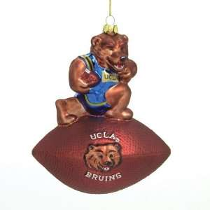 Ucla Bruins Ncaa Glass Mascot Football Ornament (6