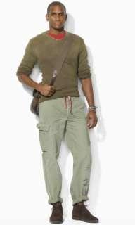 Cotton Herringbone Cargo Pant   Polo Ralph Lauren Cargo   RalphLauren