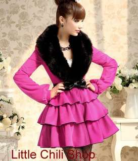 Japan Fashion Cute Sweet Gothic Nana Women Fake Fur PUNK Kera Jacket