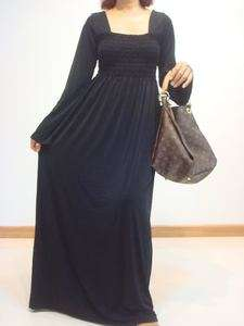 Black Bell Long Sleeve Maxi Dress Sz XXL 3XL 16 18 20